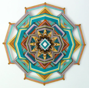 Heart of Gold, a mandala by Jay Mohler
